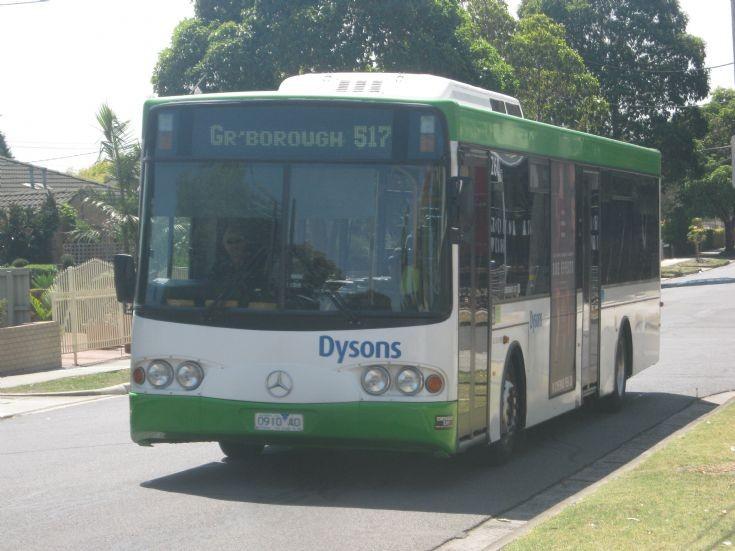 517 St Helena via Greensborough Mercedes-Benz bus.