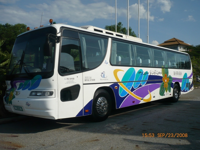 Daewoo 50 seater bus front view