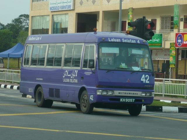 Mitsubishi Rosa Purple Bus