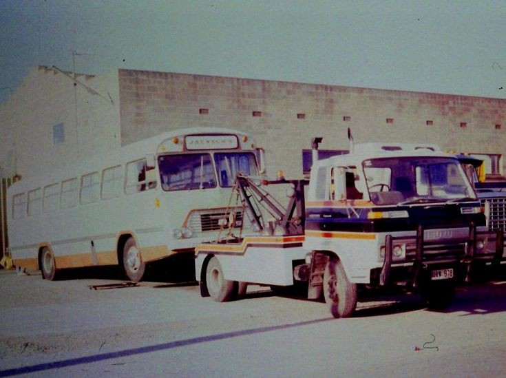 Unknown make of bus