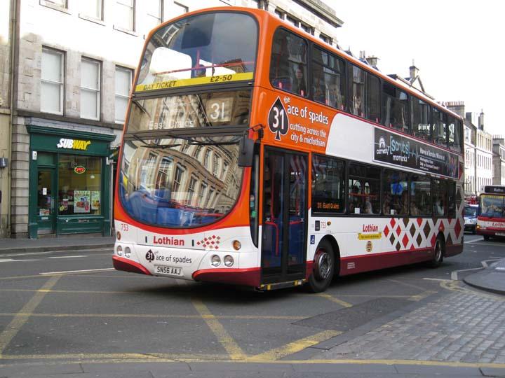 Lothian buses double deck bus Volvo SN56 AAJ