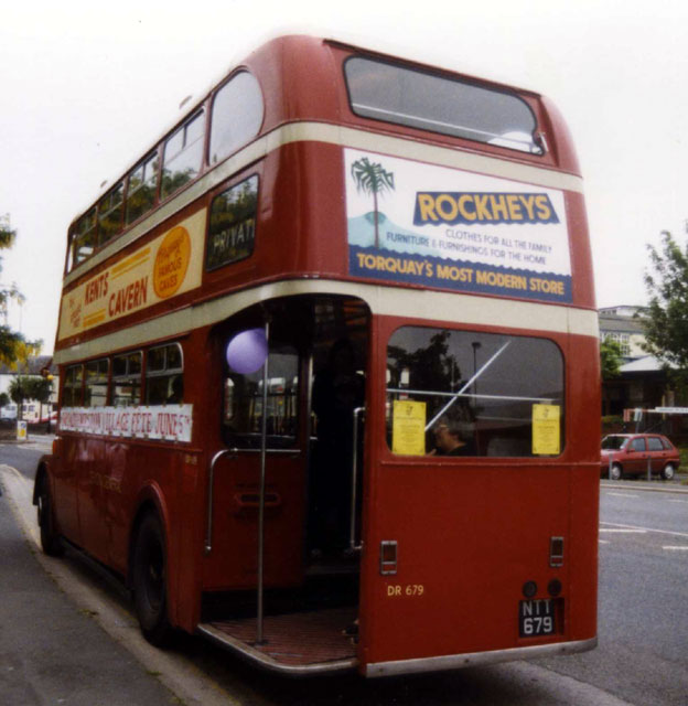 Devon General double deck bus NTT679