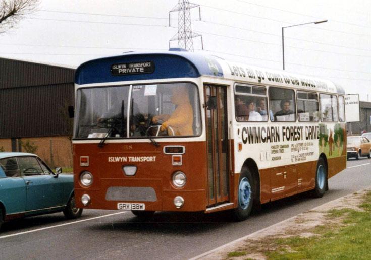 Islwyn Transport Leyland bus GAX138W