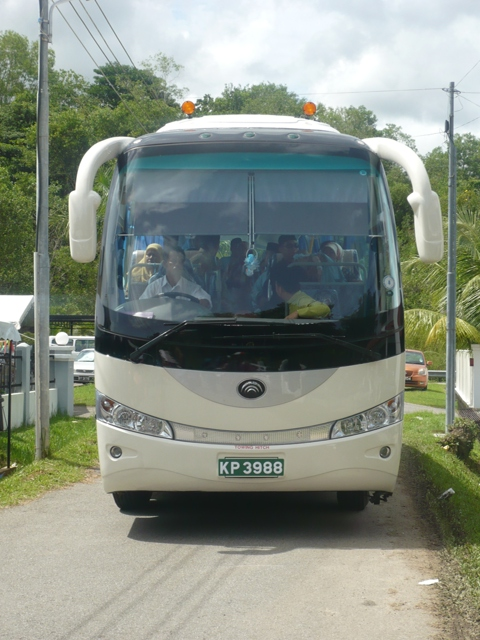 Yutong 47 seater coach (front view)