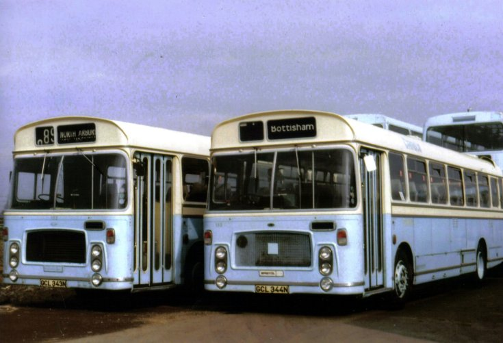 Duo of Bristol RELH-4 busses