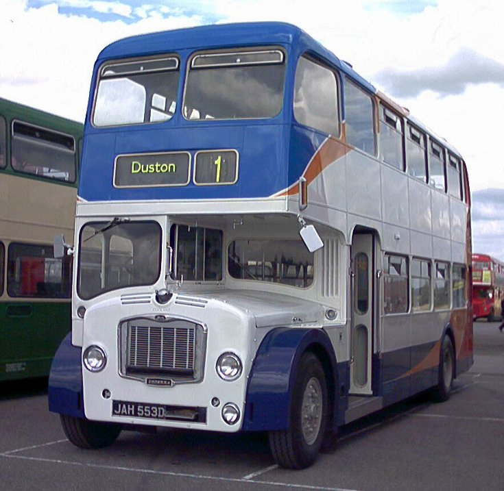 classic Bristol double deck bus
