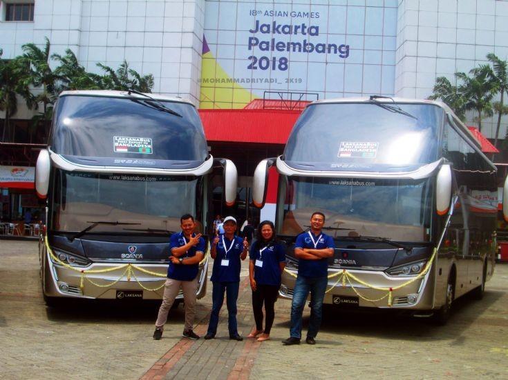 LaksanaBus First Eksport to Bangladesh - Indonesia