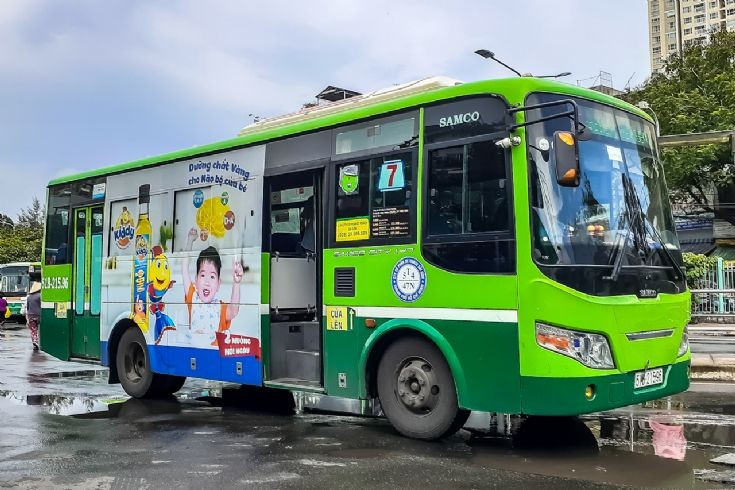 Bus number 07 of Ho Chi Minh City, Vietnam