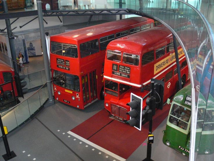 Museum Top View Top View of Buses in London