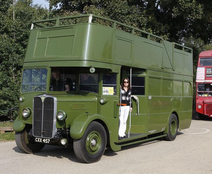 Open top London Transport double deck bus