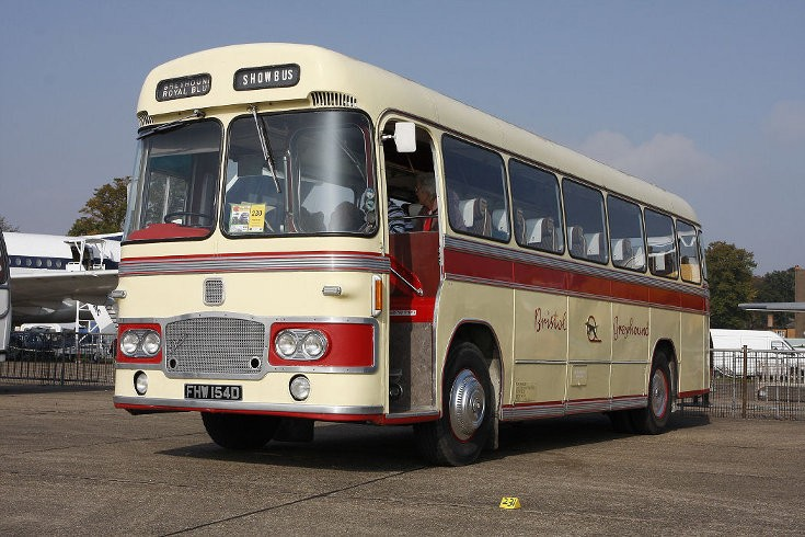 Classic Bristol bus of Bristol Greyhound