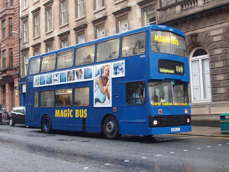 Magic bus Glasgow double decker city bus