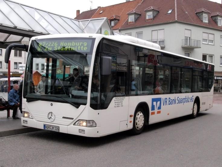 Mercedes Citaro at bus stop