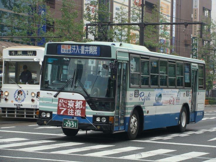 Okayama public transport - Fuso bus