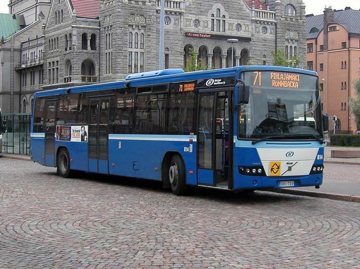 Bus and Coach Photos - Helsinki Volvo