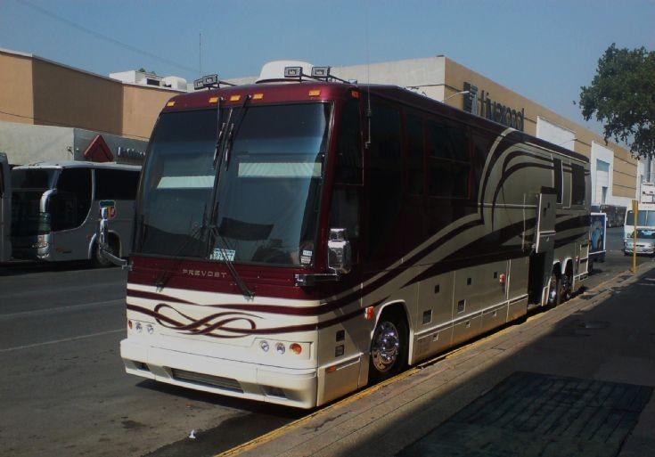 Prevost bus in Mexico
