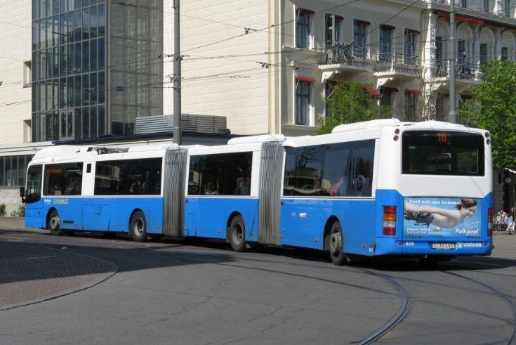 Bus and Coach Photos - Göteborg double articulated Volvo bus