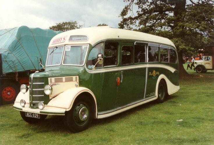 Bibby's 1950's Bedford OB Duple coach