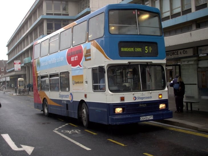 Leyland double decker in Hull