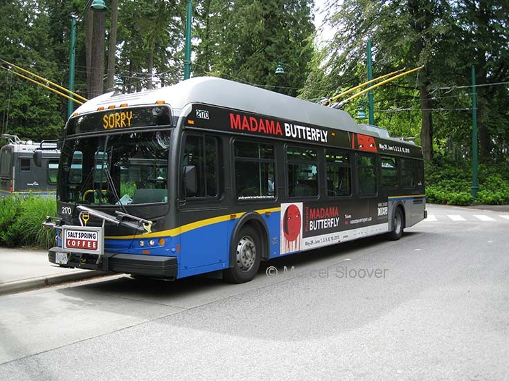 Vancouver trolley bus