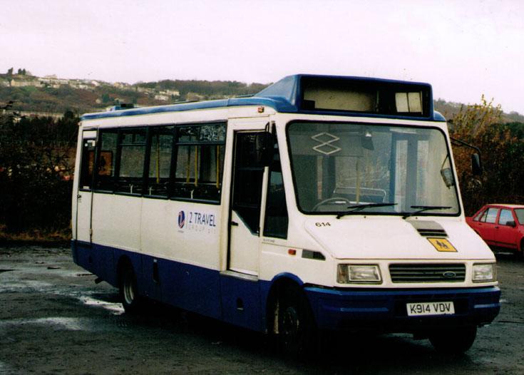 2 Travel Group Ford mini bus K914VDV