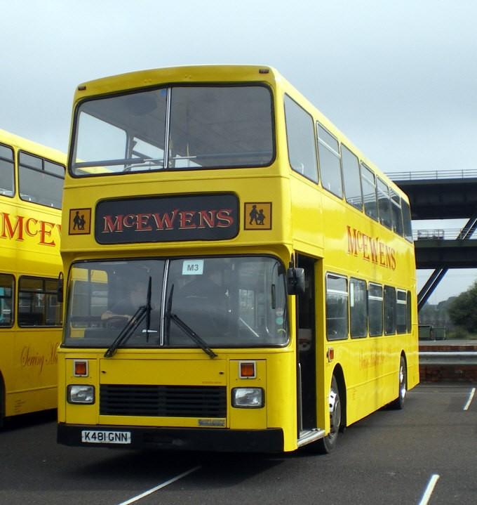 McEwens double deck bus