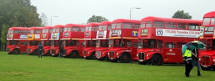 And even more red double deckers!