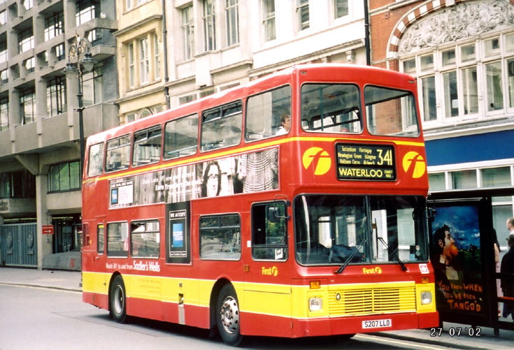 First Volvo Olympian double decker bus S207LLO