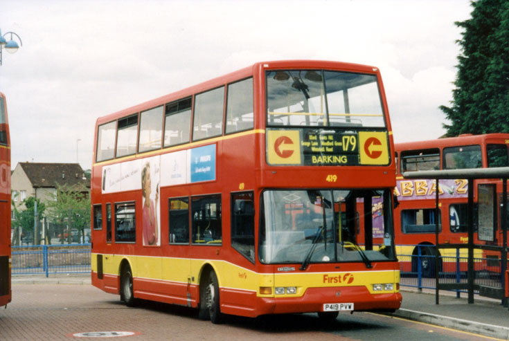Photo of red Dennis Arrow double decker bus