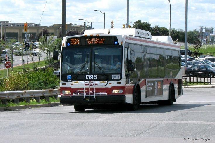 TTC 1396 approaching Wilson Subway Station