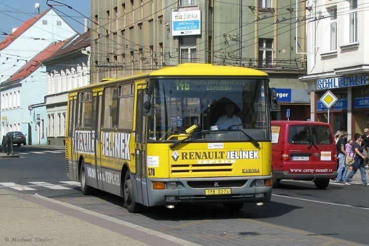 Teplice 370 at Benešovo náměstí