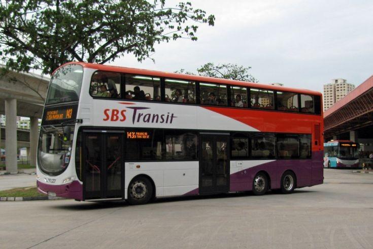 Singapore's Wrightbus Volvos