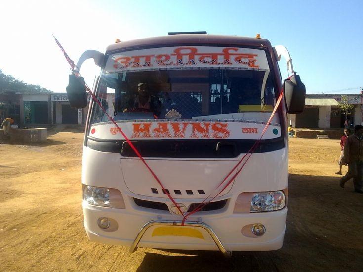 Ashirwad Travels bus in Chhuria