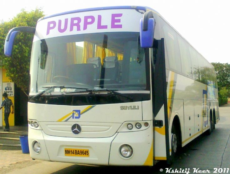 Purple Transports Mercedes-Benz Multi-Axle Bus
