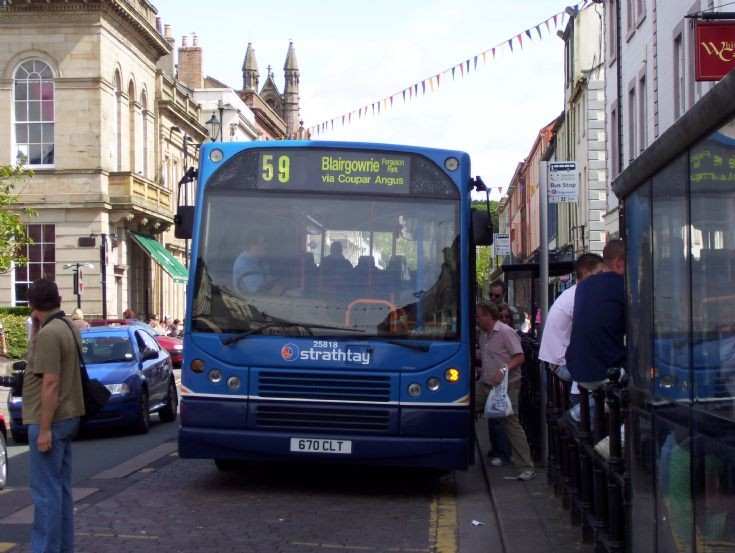 a Strathay bus in Whitehaven Cumbria