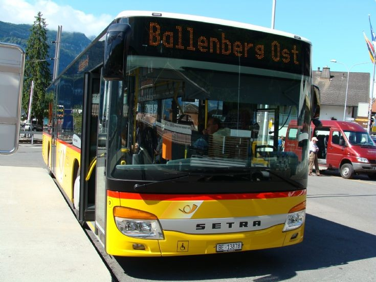 Postauto Bus Setra to Ballenberg Ost