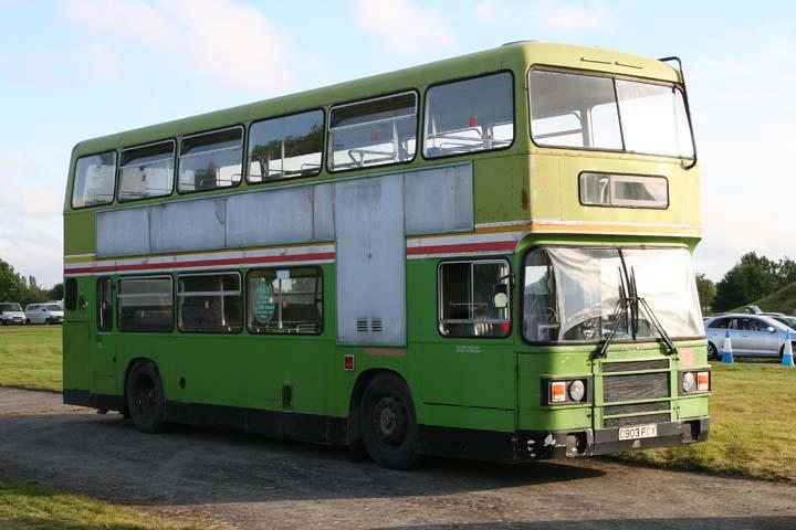 Green Leyland Olympian bus Fairford 2007