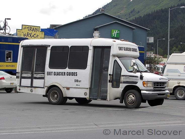 Exit Glacier Guides bus