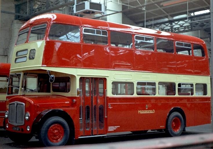 Huddersfield Corporation front entrance decker