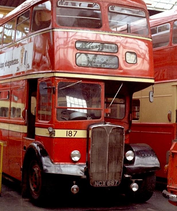 Huddersfield Corporation AEC double deck bus