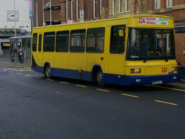 Bus 334 at Bridge Street Terminus, Walsall