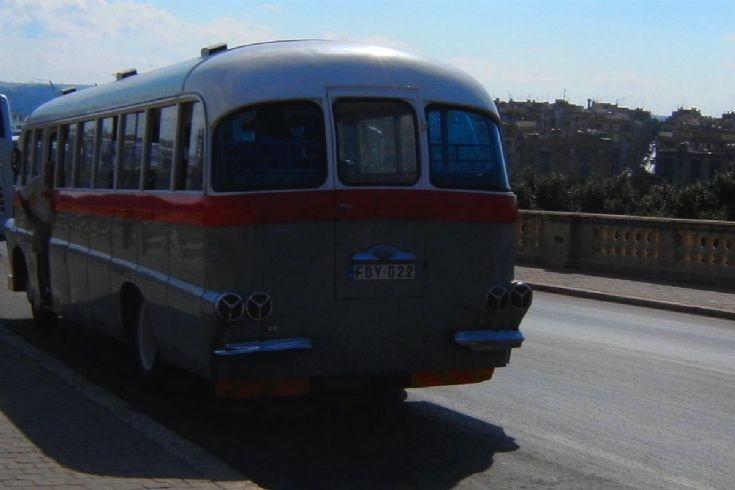 Leyland bus at Valletta,rear