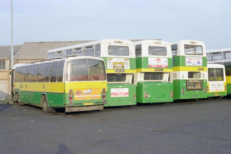 Leyland Leopard 421 (HPY421V) and friends.