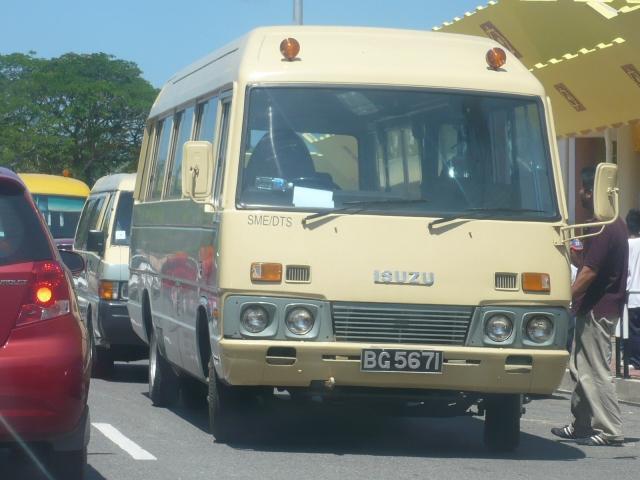 Older Isuzu mini bus
