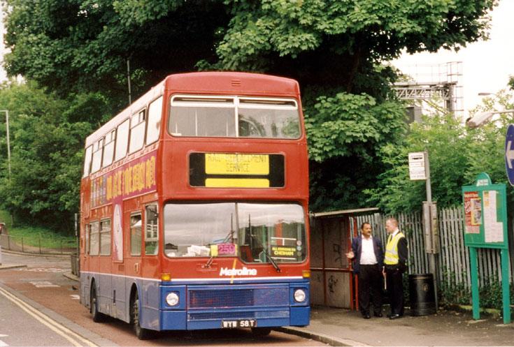 MCW Metrobus WYW58T double deck bus