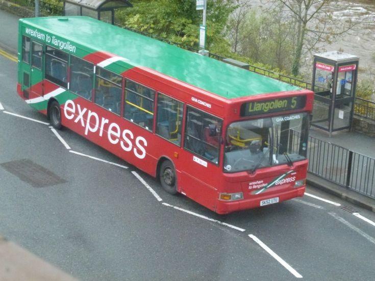 Dennis Dart Plaxton bus at Llangollen