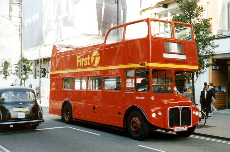 Picture of red open top double decker bus