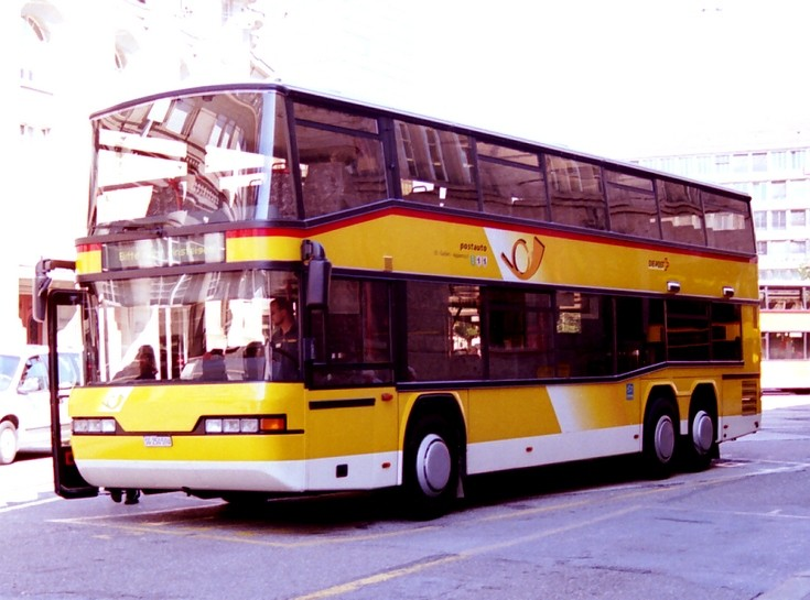 Neoplan Double deck Swiss postbus
