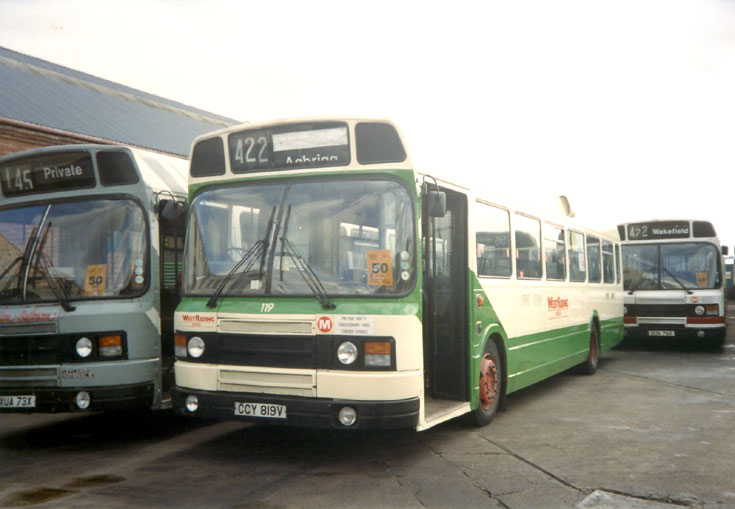 West Riding Leyland National bus CCY819V