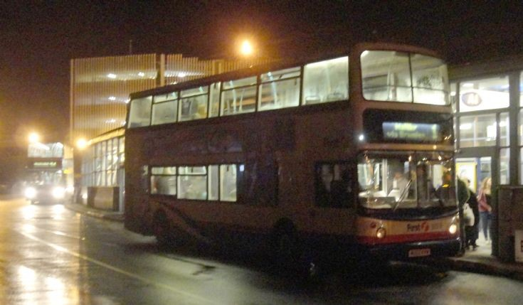 Evening at Rotherham Bus Station